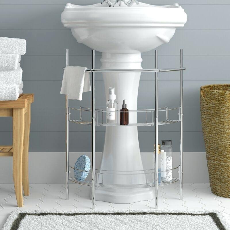 pedestal sink no storage